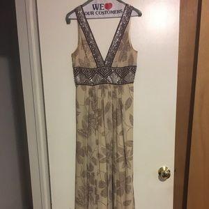 Brown/beige BCBG maxi dress, size 2